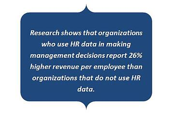 Benefits of using HR data for management decisions